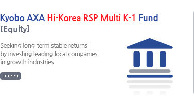 Kyobo AXA Great Korea Securities Feeder Investment Trust 1 [Equity] / Seeking excess returns in comparison with equity market by investing in large cap stocks which represent local equity market and enhancing stability of portfolio